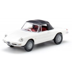 Alfa Romeo Spider (Duetto) - osso di seppia (1966) blanc et bâché