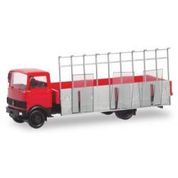 MB LP 809 camion plateau avec chevalet transport de verre
