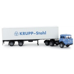 "Krupp SF380 + semi-remorque porte container 40' ""Krupp Stahl"""