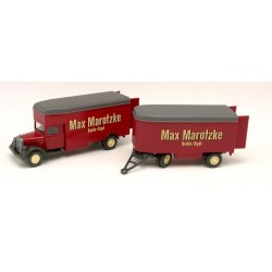 "MB L 2500 camion + remorque fourgon de déménagements ""Max Marotzke"" (1935) - avec portes ouvrantes"
