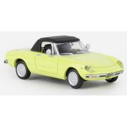 Alfa Romeo Spider Duetto 1969 (coda tronca) cabriolet fermé jaune soufre
