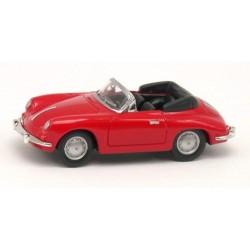 Porsche 356B 1960 cabriolet ouvert rouge