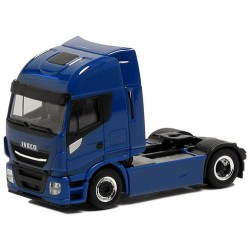 Iveco Stralis Highway E6 Tracteur solo bleu (jantes chromées - moyeu noir)