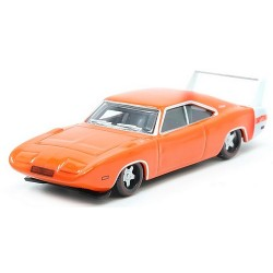 Dodge Charger Daytona 1969 orange avec aileron blanc