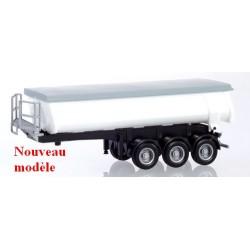 """semi-remorque benne à isolation thermique pour le transport d""""enrobé"""