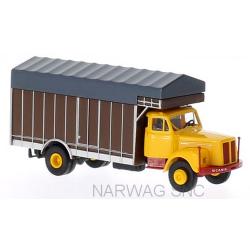 Scania L 110 camion fourgon maraîcher (cabine jaune)