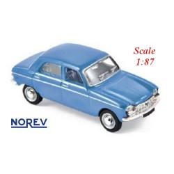 Peugeot 204 berline 4 portes 1966 bleu pervenche