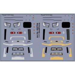 Planche de décalcomanies pour Renault T (marquages argent et or)