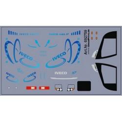 Planche de décalcomanies pour Iveco Stralis XP bleu