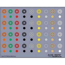 Planche de décalcomanie pour jantes et moyeux de roues de camion (différentes couleurs)
