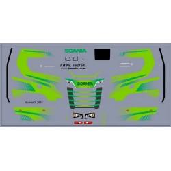Planche de décalcomanies pour Scania CS vert