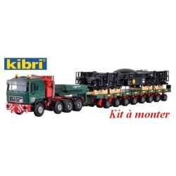 """MAN F90 + remorque modulaire Scheuerle & Chgt de châssis de grue """"Kahl Transporte"""""""