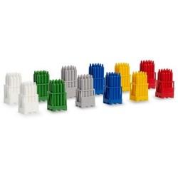 Set de 12 racks à bouteilles de gaz (6 couleurs différentes)