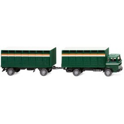 MB 1620 camion + remorque bétaillère vert foncé (1963)