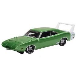 Dodge Charger coupé Daytona 1969 vert métallisé - aileron blanc