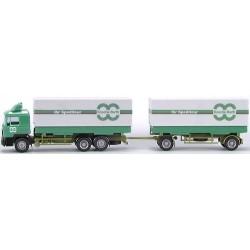 """MAN F90 camion  + remorque Pte caisses bâchées """"Knoche-Barth"""""""