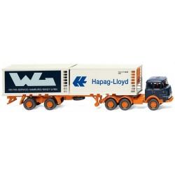 "Krupp 806 + semi-remorque Porte container (2x20') ""WPL - Hapag Lloyd"" (1964)"