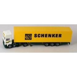 Volvo Eurotrotter + semi-rqe fourgon Schenker