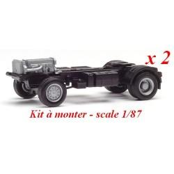 Set de 2 châssis 4x4 Iveco Trakker (kit à monter)