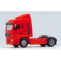 MAN TGA LX Tracteur solo caréné rouge avec déflecteur
