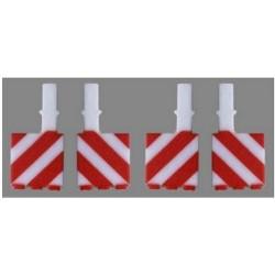 Set de 12 panneaux (chevrons rouges et blancs) pour semi-remorque Nooteboom (4x5 mm)