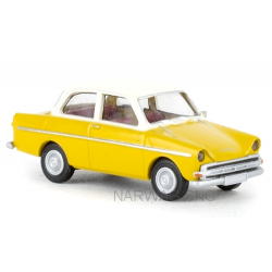 "Daf 750 berline ""Daffodil"" (1961) jaune foncé à toit blanc"