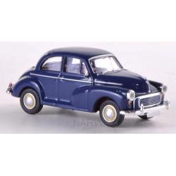 Morris Minor 1000 (volant à gauche) bleu foncé 1953