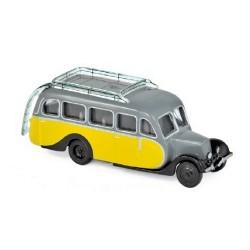 Citroen U23 autocar 1947 jaune et gris (modèle en métal)