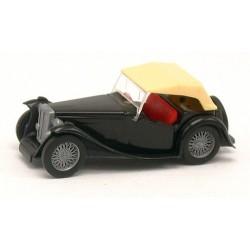 MG Midget TC 1945 cabriolet noir bâche crème