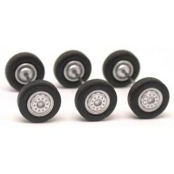 Set de 3 jeux de roues avants de camion  (diamètre : 11,50 mm - taille : 3,50 mm)