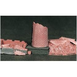 cheminée en ruine (kit résine)