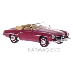 MB 190 SL cabriolet (W121 - 1955) rouge carmin