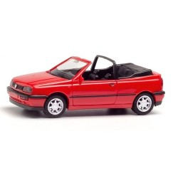 VW Golf III (1991) cabriolet ouvert rouge