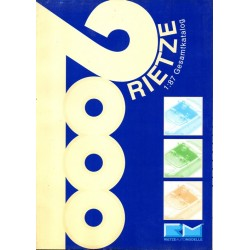 Catalogne Général 2000 Rietze (108 pages en couleur de la gamme complète)