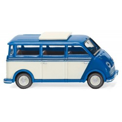 DKW minibus (1955) bleu et blanc perle