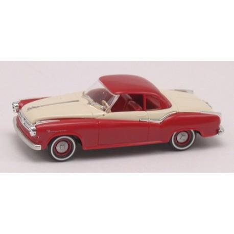 Borgward Isabella coupé 1958 rouge brun et blanc crème