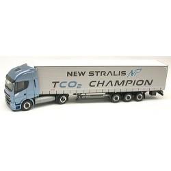 "Iveco Stralis NP 460 + semi-remorque tautliner ""New Stralis TCO2 Champion"""