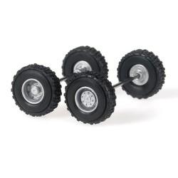 Set de 2 jeux de roues équipés de pneu tout terrain
