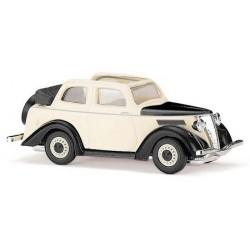 Ford Eifel 1935 berline découvrable crème à ailes noires