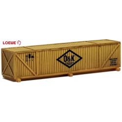 """caisse en bois de transport sur chevalet pour machine """"O&K"""" (modèle en résine)"""