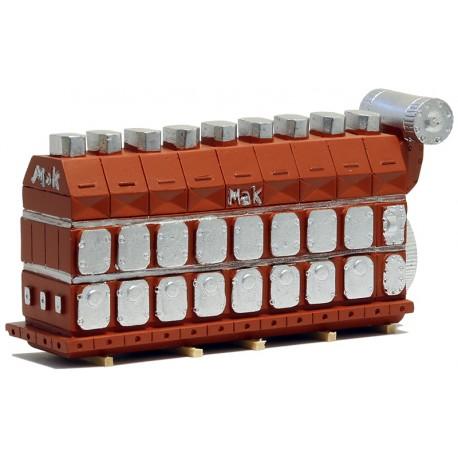 """Gros Moteur Diesel """"Mak"""" (modèle en résine - fabricant Loewe)"""