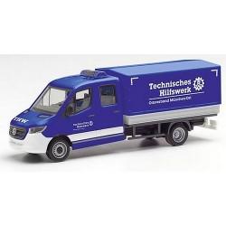"MB Sprinter 18 pick-up bâché cabine double ""THW München Ost"""