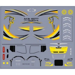 Planche de décalcomanie pour MAN TGX GX jaune