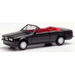 BMW 3er cabriolet ouvert (E30 - 1982) noir saphir métallisé