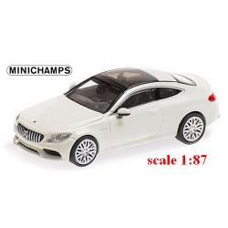 MB AMG C63 coupé 2015  blanc