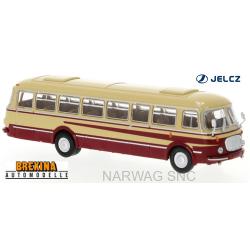 Autobus JZS Jelcz 043 beige à bandes rouges (1960)