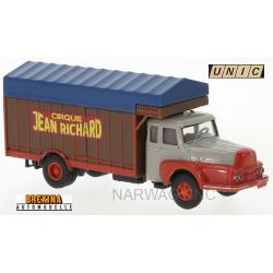 "Unic 122 Izoard camion fourgon bâché "" Cirque Jean Richard"" (1957)"