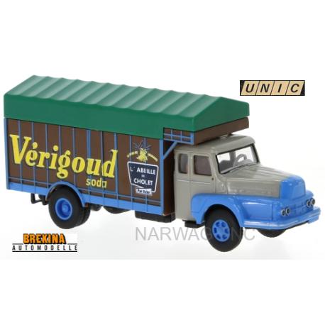 "Unic 122 Izoard camion fourgon bâché ""Verigoud Soda"" (1957)"
