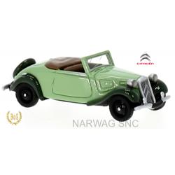 Citroen Traction Avant cabriolet débâché vert 1936
