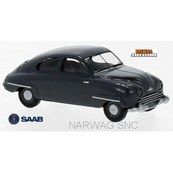 Saab 92 berline 2 portes gris basalte (1950)